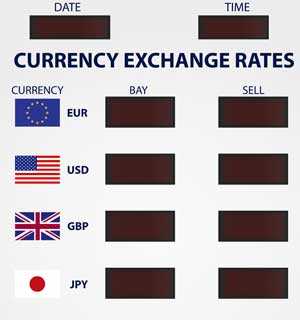 Currency Exchange Rate for Cruise