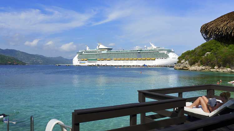 Royal Caribbean Cruise Ship at Labadee