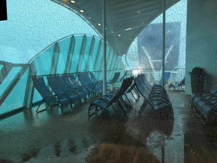 Rain onboard Cruise