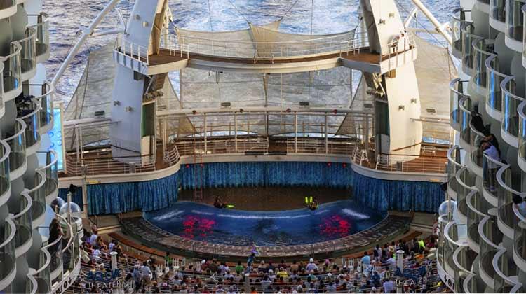 Cruise ship pool entertainment