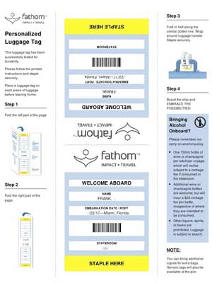 Cruise Printable Luggage tag