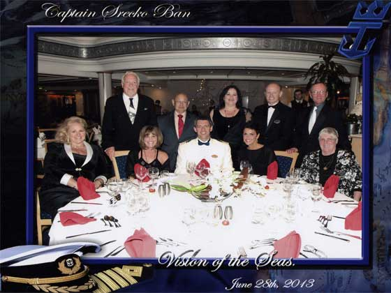 Dining with Cruise Captain