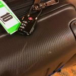 Luggage with approved lock for cruising