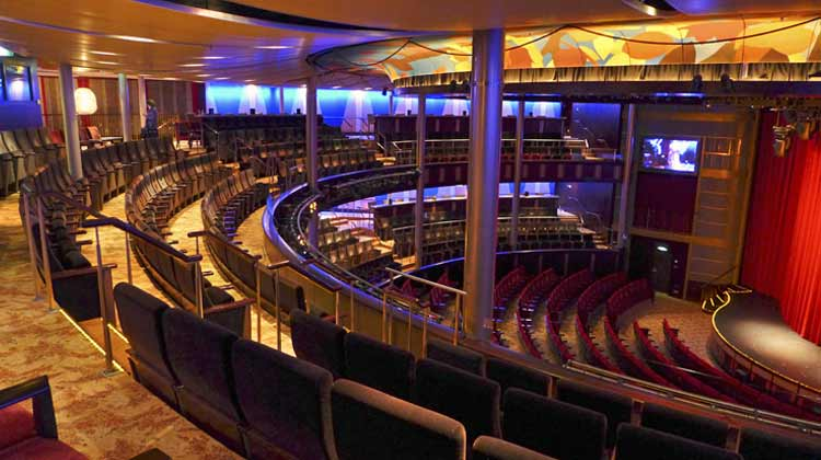 Theater onboard Cruise Ship